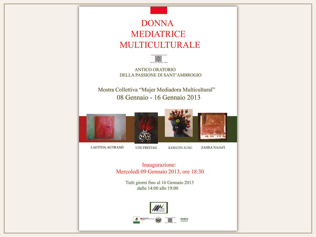Donna Mediatrice Multiculturale, gennaio 2013