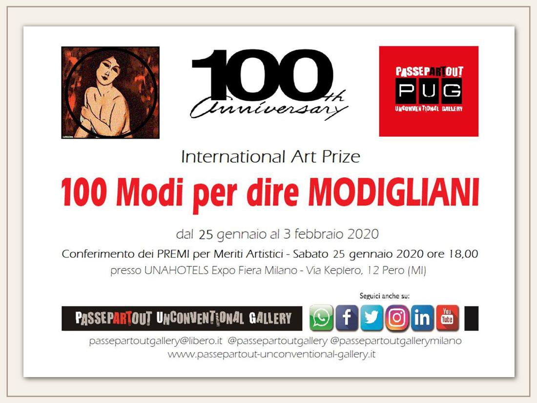 Premio Modigliani 2020 perl 'Arte Contemporanea